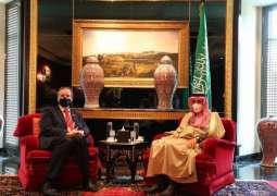 سمو الأمير فيصل بن فرحان يلتقي وزير الدولة في وزارة الخارجية الألمانية