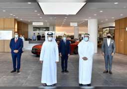 Mansour bin Mohammed inaugurates AGMC's new Dubai Motor City showroom, service facility