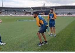 Babar Azam starts practice with Tennis ball