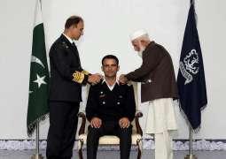 Naval Chief Conferred Cricketer Fakhar Zaman Honourary Rank Of Lieutenant In Pakistan Navy