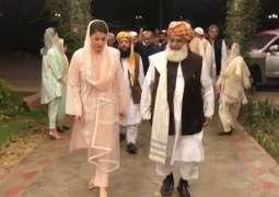 Maulana Fazl complaints about Shehbaz Sharif's meeting with representatives of establishment