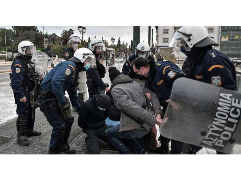 Over 370 People Detained At Teen Murder Commemoration Protest In Athens -  Reports | Pakistan Point