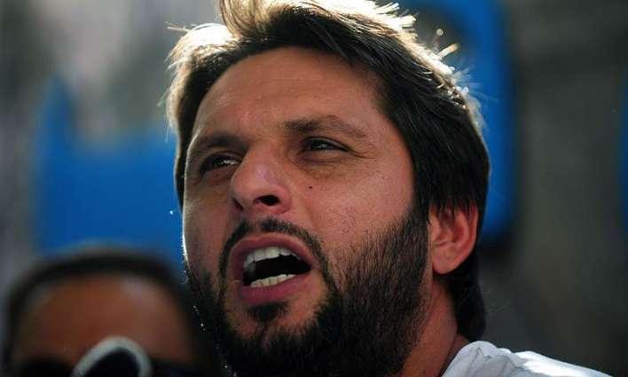 Shahid Afridi turns aggressive over misbehavior of Afghan bowler