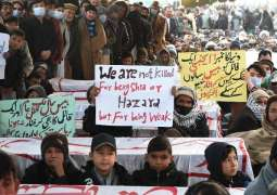Hazara people continue to protest as Zulfi Bukhar, others' talks with them failed