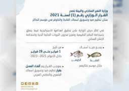 UAE bans fishing and trade of certain species of fish during breeding season