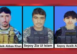 Three Pak Army soldiers embrace martyrdom in North Waziristan