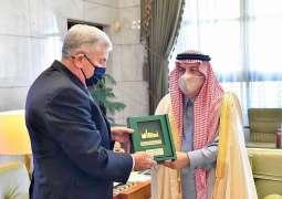 سمو أمير منطقة الرياض يستقبل سفير الولايات المتحدة الأمريكية لدى المملكة
