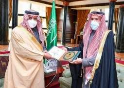 سمو أمير تبوك يستقبل مدير فرع وزارة التجارة بالمنطقة