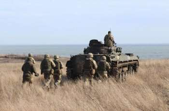 Ukrainian Marines Conduct Live Fire Exercises With New Vehicles in Donbas - Ministry