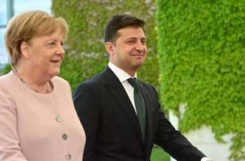Zelenskyy Discusses With Merkel Efforts to Establish Peace in Donbas