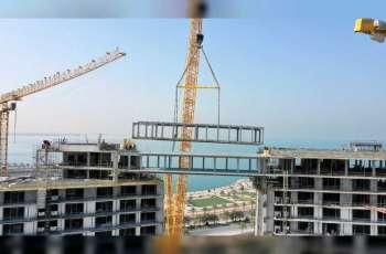 Longest suspension bridge in Northern Emirates takes shape in Ras Al Khaimah