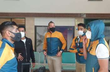 Cricket squad leaves for Karachi through chartered plane