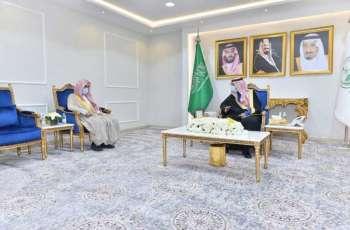 سمو أمير منطقة نجران يستقبل رئيس مساعد محكمة الاستئناف بالمنطقة