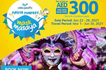 Cebu Pacific celebrates Philippine festivals with Dubai-Manila flights for as low as AED300