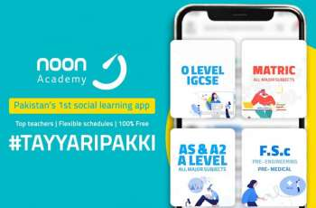 International Social Learning App - Noon Academy launches in Pakistan