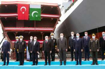 Welding Ceremony Of 3Rd Milgem Class Corvette For Pakistan Navy Held At Turkey