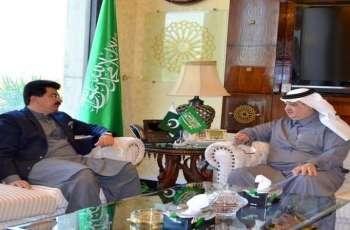رئیس مجلس الشیوخ الباکستاني یجتمع بسفیر المملکة العربیة السعودیة لدي اسلام آباد