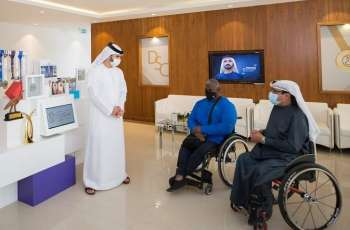 Mansoor Bin Mohammed meets UAE Paralympic hero Khamis and urges him to continue his achievements
