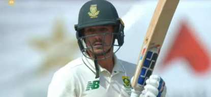 South Africa loses 3rd wicket to Pakistan at 108 runs in first Test match