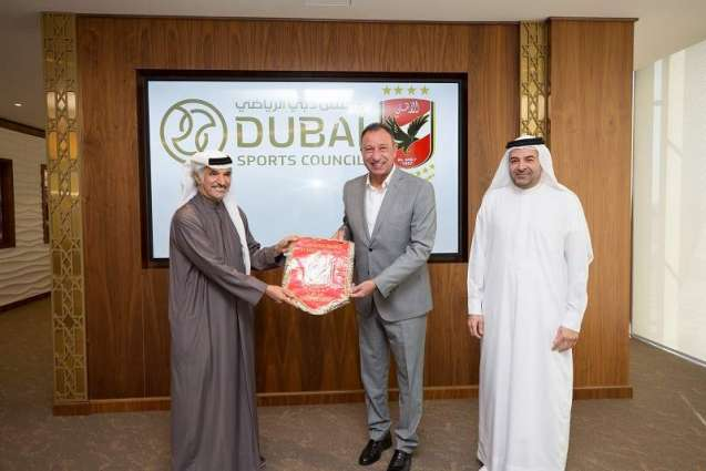 Egyptian legend Mahmoud El Khatib visits Dubai Sports Council and MBR Creative Sports Awards