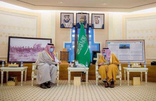 سمو أمير منطقة القصيم يلتقي رئيس مجلس إدارة الهيئة العليا للفروسية