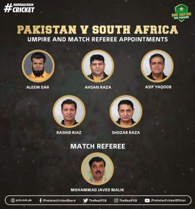 Aleem Dar and Ahsan Raza to umpire South Africa Tests