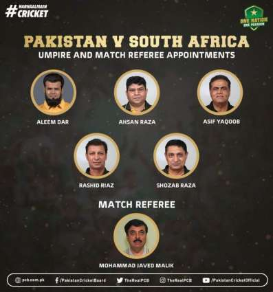 Aleem Dar, Ahsan Raza to umpure South Africa tests