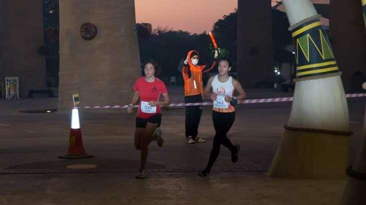 UAE's Shamsa Salim romps through Dubai Safari Park in Stage 1 of Dubai Women's Running Challenge
