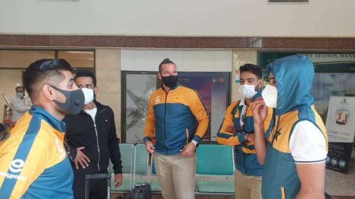 Cricket squad leaves for Karachi through chartered plane