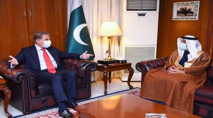 وزیر خارجیة باکستان شاہ محمود قریشي یجتمع بسفیر دولة الامارات لدی اسلام آباد