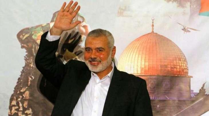 اسماعیل ھنیة یوجّہ التحیة لجمعیة علماء الاسلام فی باکستان علی تنظیم المسیرة الملیونیة لدعم القضیة الفلسطینیة