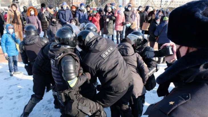 Police Arrest Wife of Russian Opposition Activist Navalny at Moscow Rally