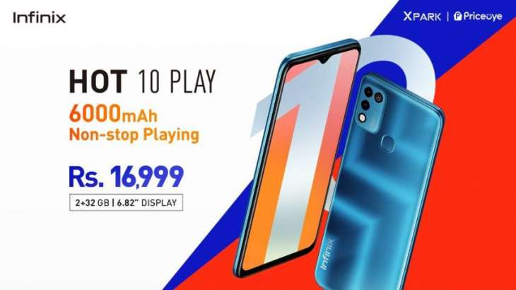 Pakistan's # 1 smartphone brand Infinix unveils latest Hot 10 play at PKR 16,999