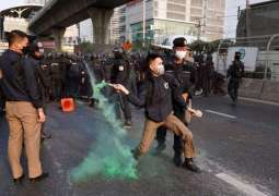 Thai Police Clash With Protesters Near Myanmar Embassy