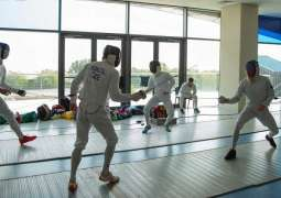 Czech national pentathlon team camp in Dubai as they prepare for Tokyo Olympic Games