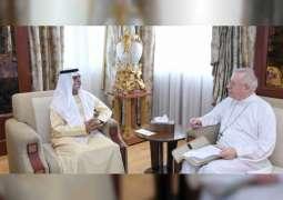 Nahyan bin Mubarak receives Apostolic Vicar of Vicariate of Southern Arabia