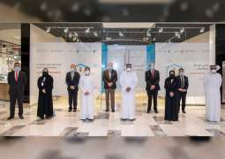 Abdulla Al Hamed visits Mubadala Health COVID-19 vaccination booth at The Galleria Al Maryah Island