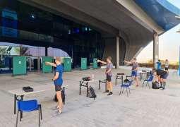 Czech national pentathlon team enjoying their training camp at Hamdan Sports Complex