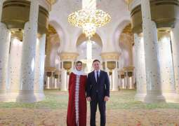 Ukrainian President visits Sheikh Zayed Grand Mosque