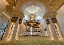 Preserving exquisite chandeliers of Sheikh Zayed Grand Mosque