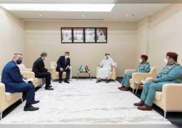 Saif bin Zayed receives Uzbek Internal affairs Minister