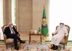 الأمين العام لمجلس التعاون يستقبل مبعوث الأمين العام للأمم المتحدة إلى الجمهورية اليمنية