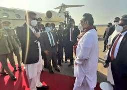 PM Imran Khan arrives in Colombo