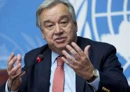 """غوتيريش يطالب ب""""تحالف عالمي """" للالتزام بانبعاثات صفرية بحلول منتصف القرن الحالي"""