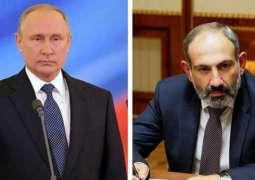 Putin, Pashinyan Discuss Situation in Armenia by Phone - Kremlin