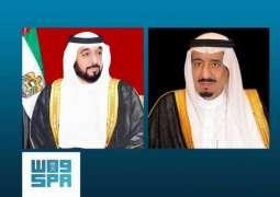 القيادة الإماراتية تهنئ خادم الحرمين الشريفين بنجاح العملية الجراحية التي أجراها سمو ولي العهد