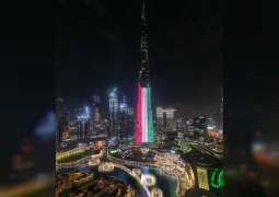 Dubai's landmarks light up in colours of Kuwait flag in celebration of its 60th National Day