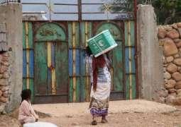 مركز الملك سلمان للإغاثة يوزع أكثر 256 طنًا من السلال الغذائية في سقطرى