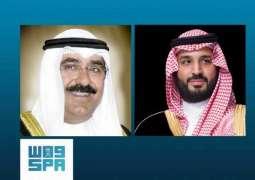 سمو ولي العهد يتلقى اتصالاً هاتفياً من سمو ولي عهد دولة الكويت