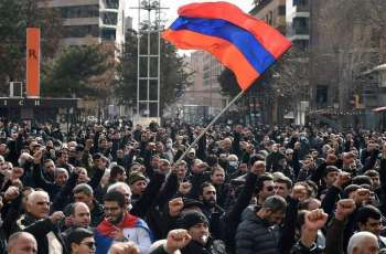 Armenian Opposition Activists Spend 2nd Night in Row In Tents In Front of Parliament
